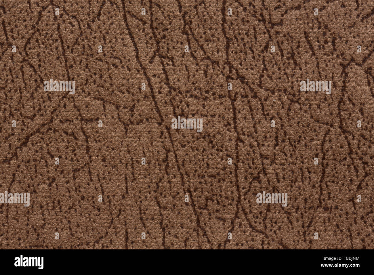 Soft brown fabric texture for background on macro. High resolution photo. - Stock Image