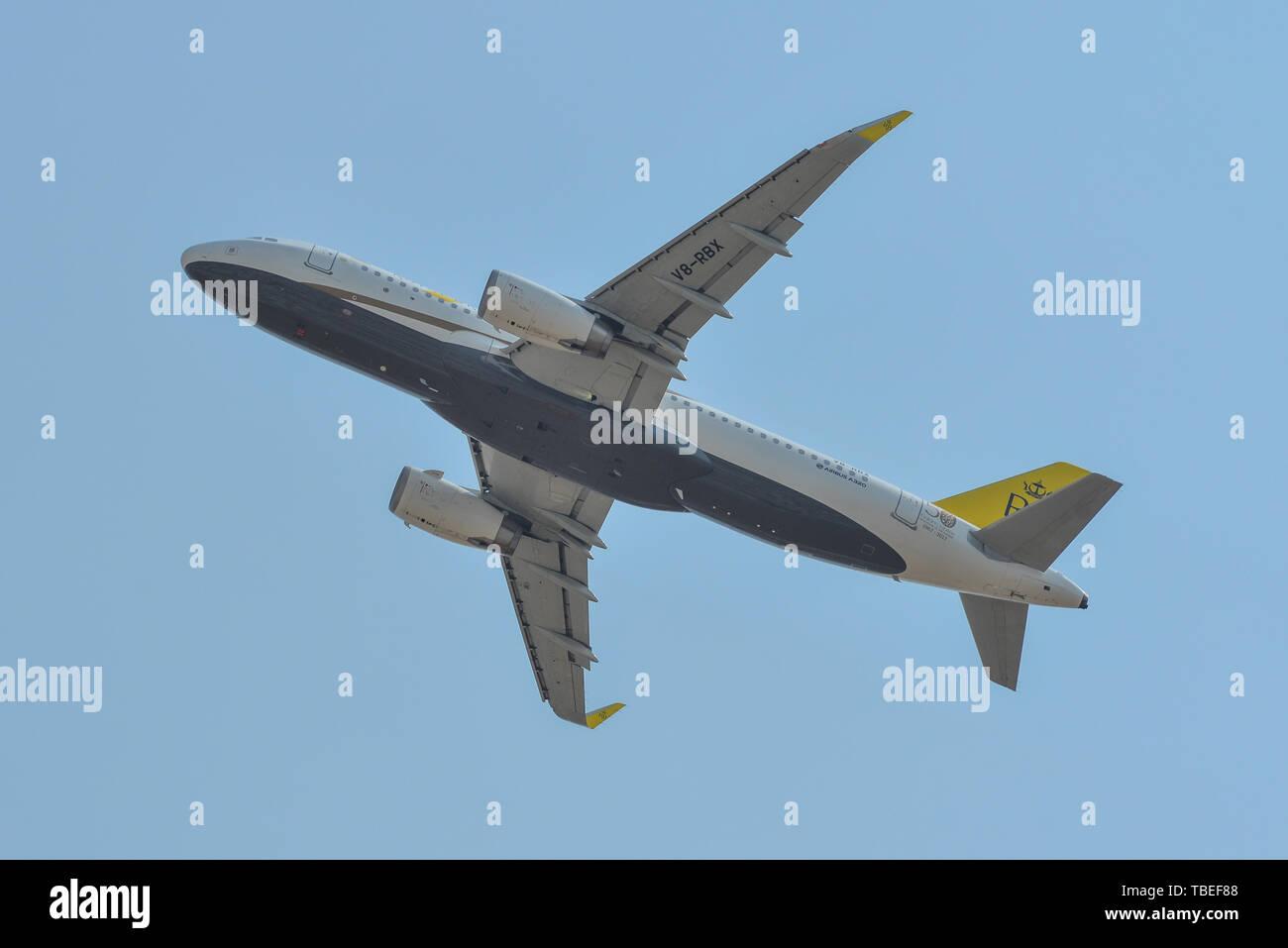 Saigon, Vietnam - Feb 25, 2019  V8-RBX Royal Brunei Airlines Airbus