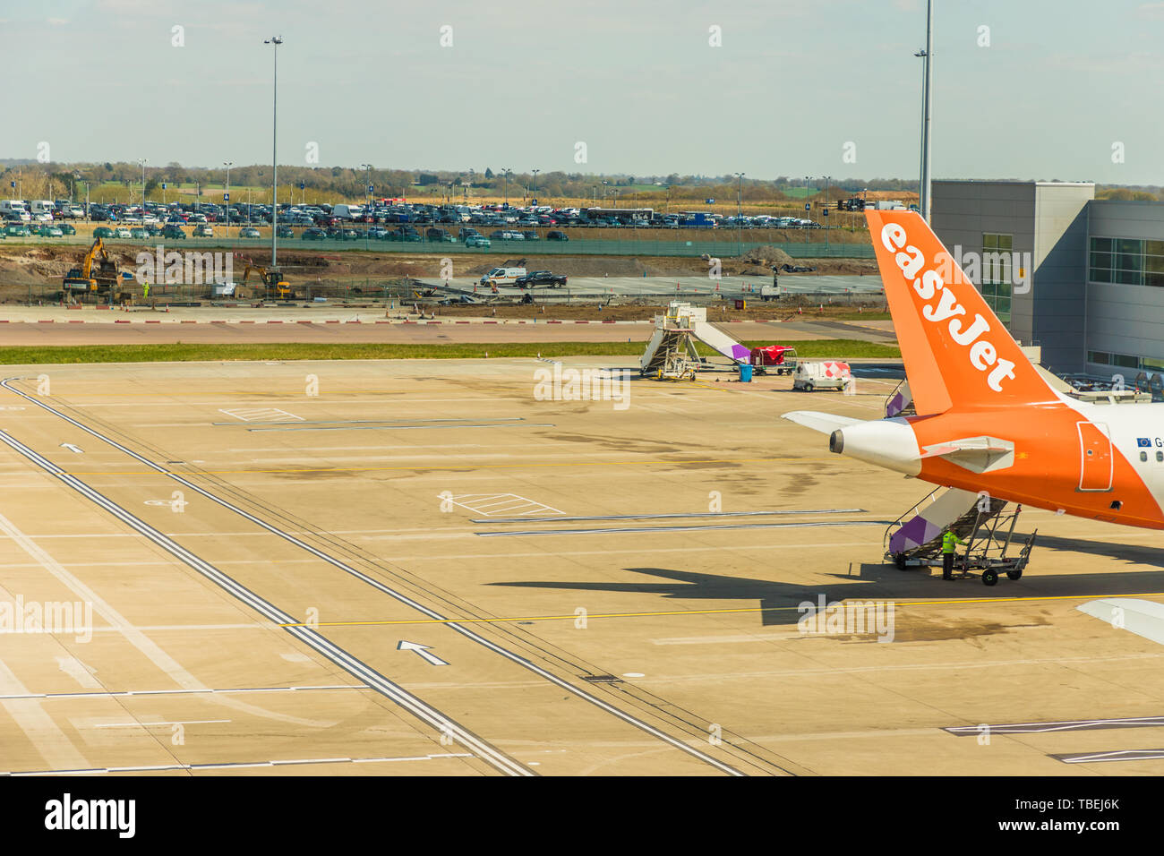 A view at Luto Airport in the UK Stock Photo