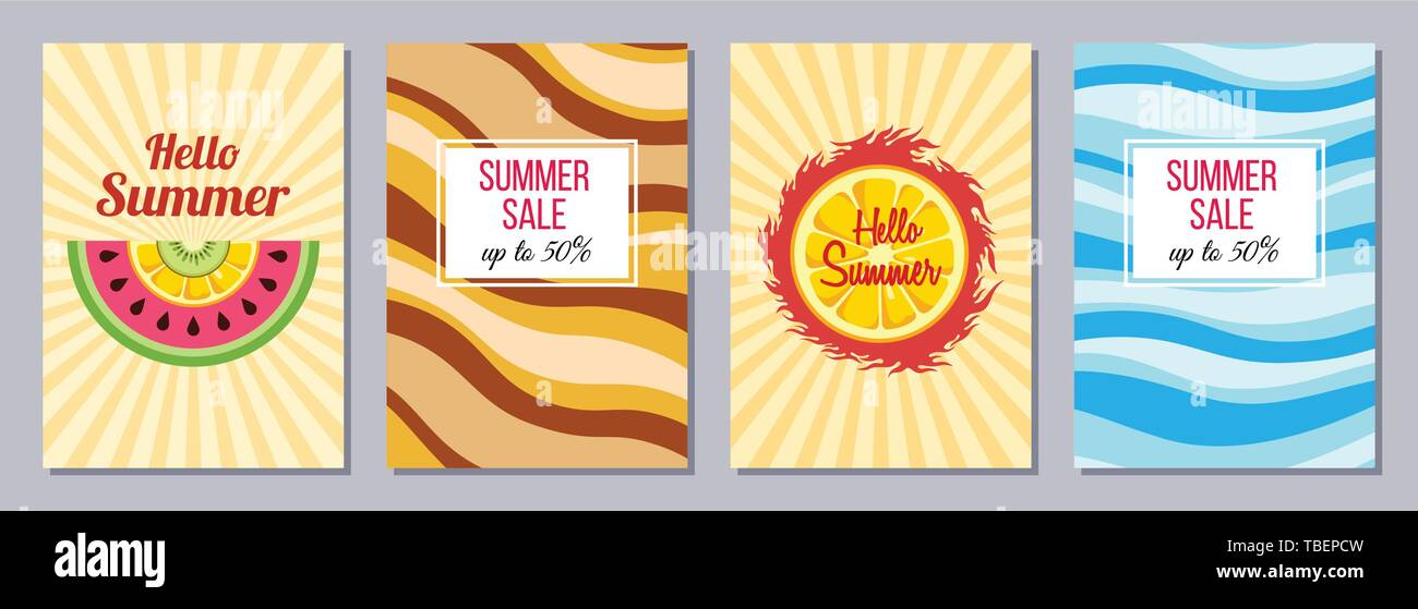 53ac00b26cfa12 Set of flyers, posters, banners, placards, brochure design templates A6 size .