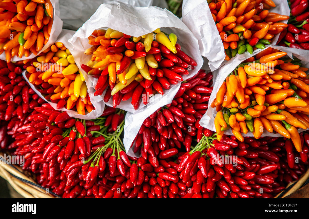 Pepper at the market in Venice, Italy Stock Photo