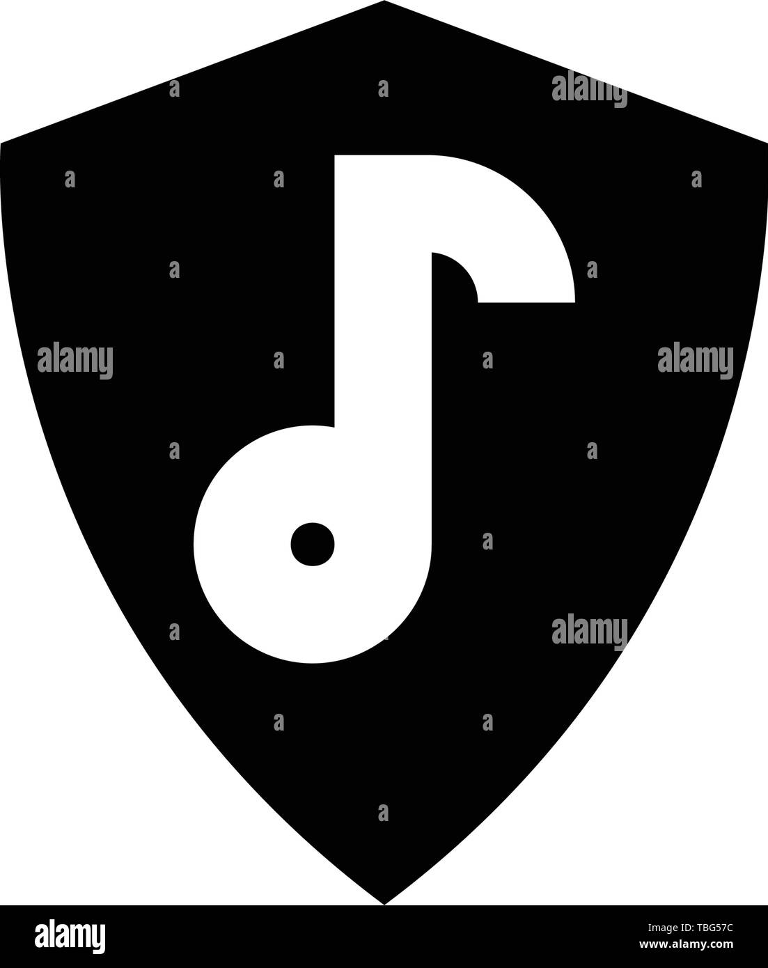 Music security icon - Protection music sign - sound lock - Stock Image