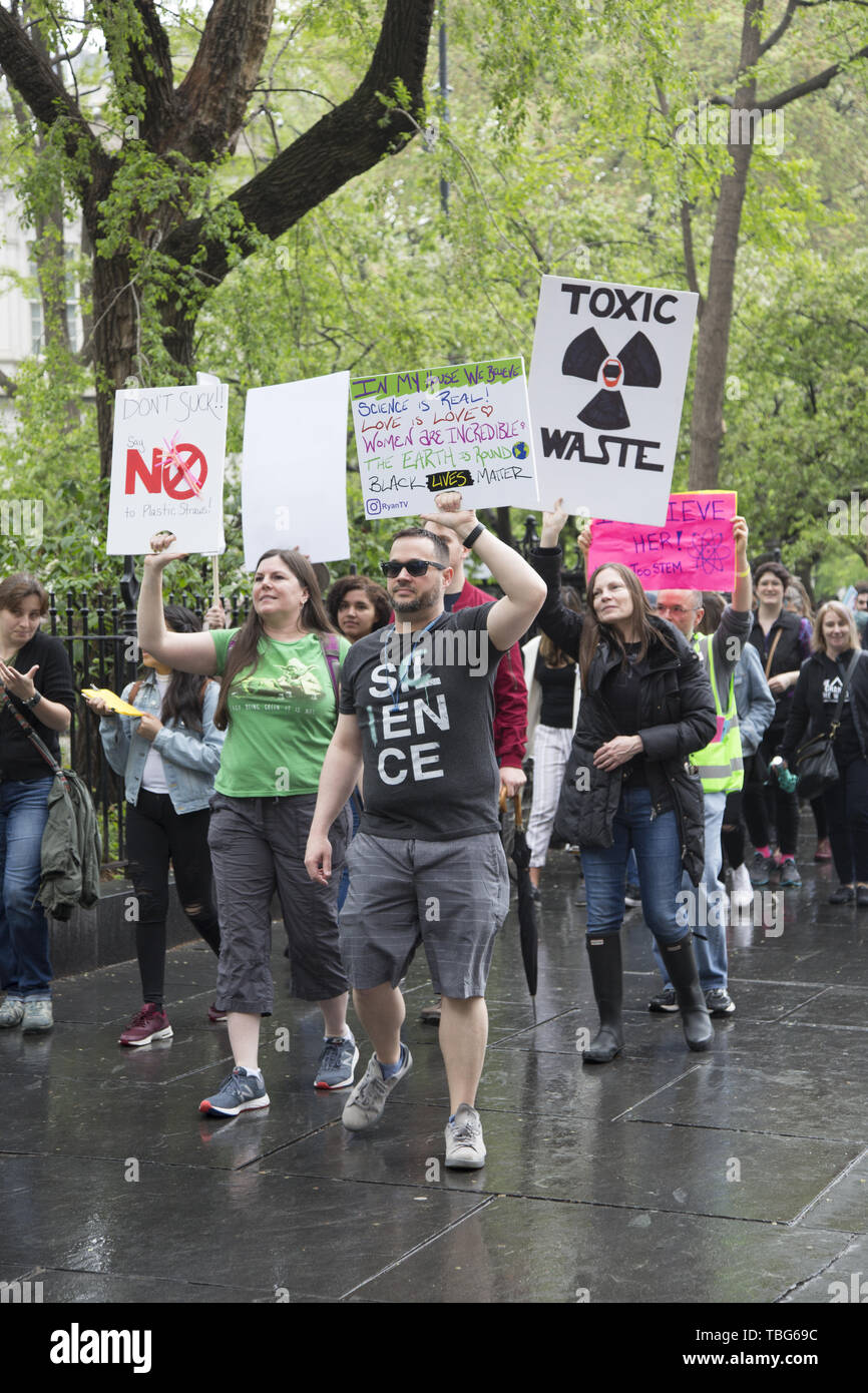 March for Science, New York City. The March for Science is an international series of rallies and marches held on Earth Day. The inaugural march was held on April 22, 2017 in Washington, D.C. It is a global movement that advocates for equitable, evidence-based policy that serves all communities. Stock Photo