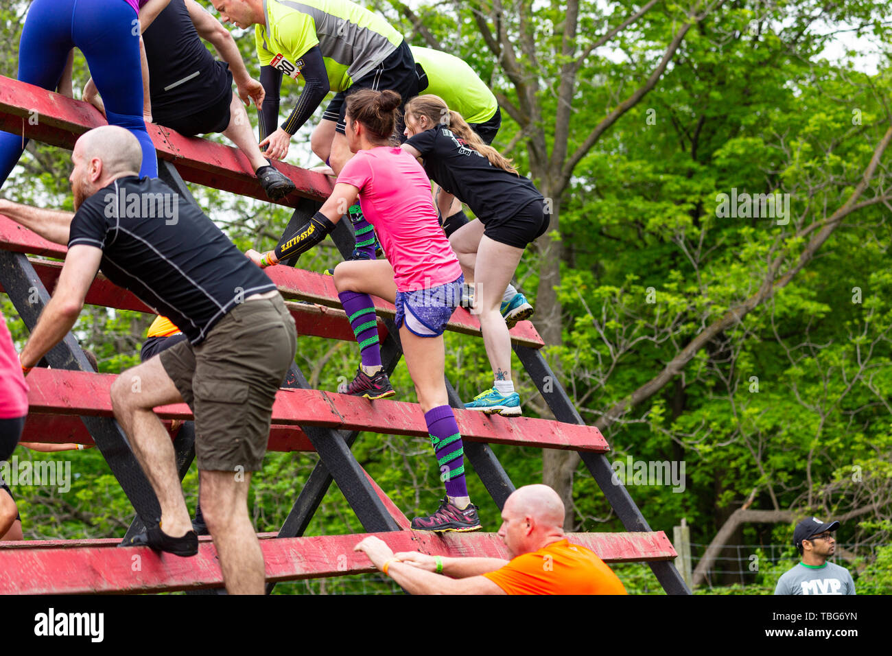 Rugged Maniac Obstacle Race Kitchener Ontario Canada June 01 2019 Stock Photo