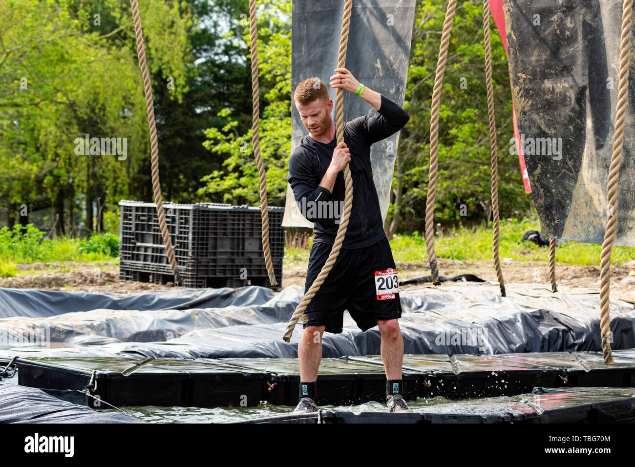 Rugged Maniac Obstacle Race Kitchener Ontario Canada June 01 2019 - Stock Image