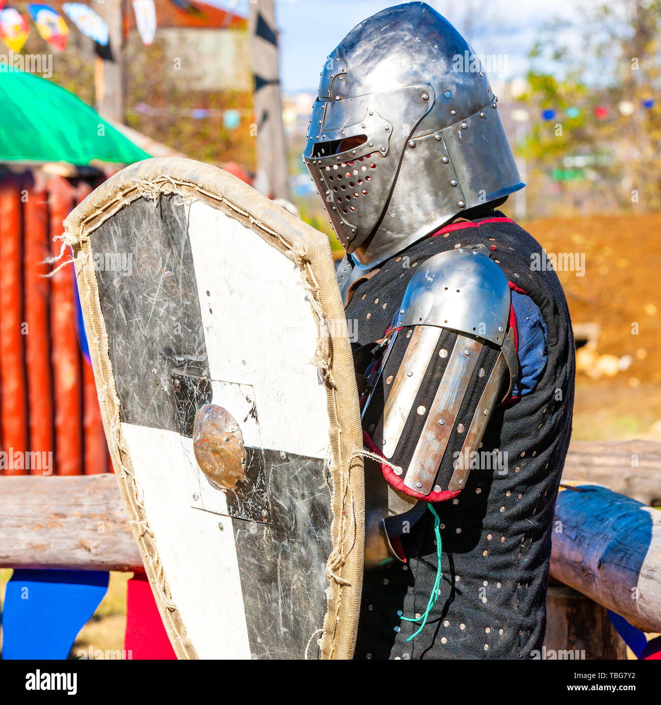 Medieval Battle Reenactment Chain Mail Stock Photos