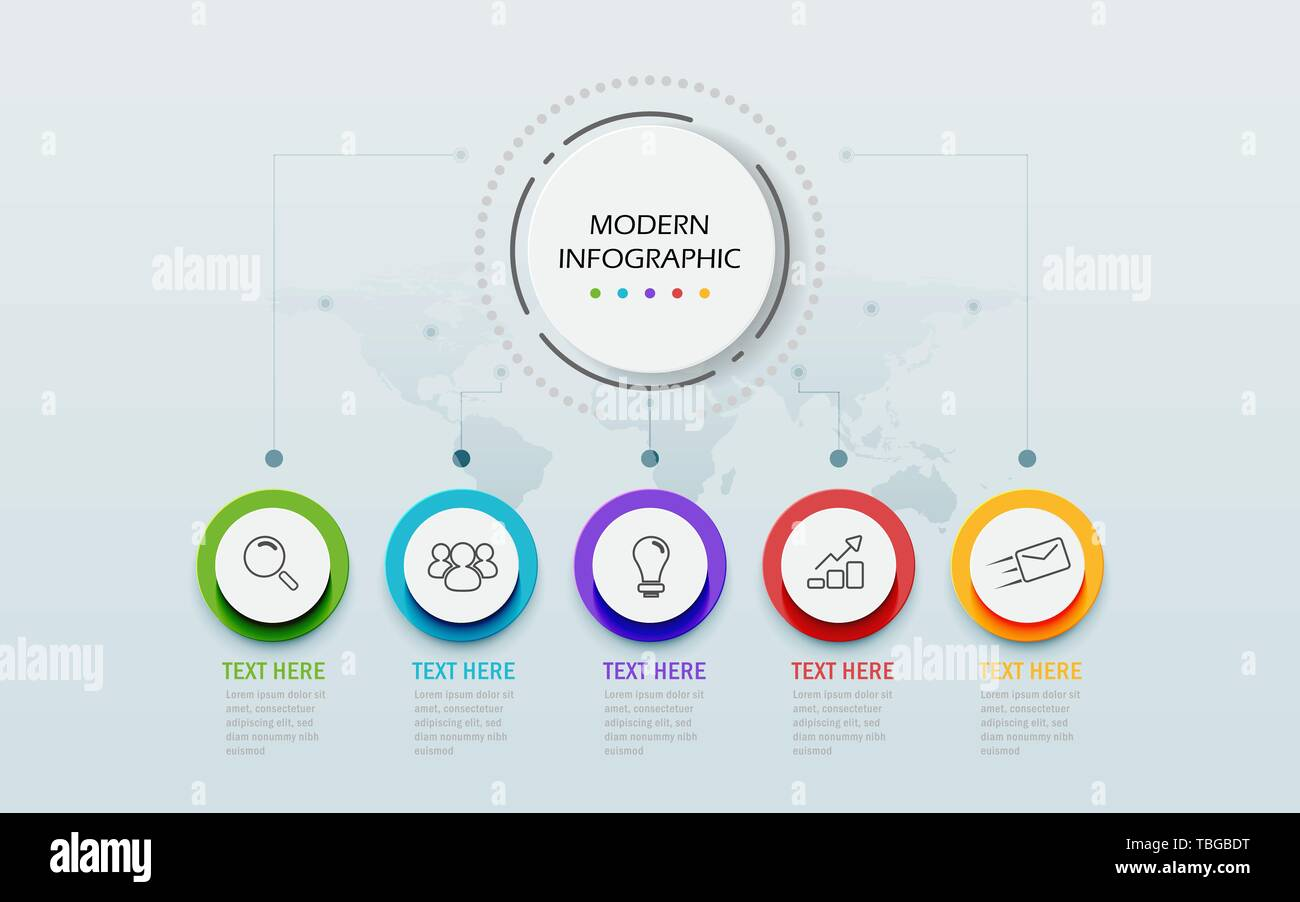 Modern Abstract 3D infographic template  Business circle with