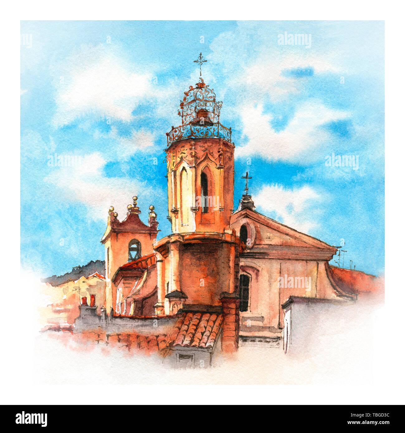 Church in Aix-en-Provence, France Stock Photo
