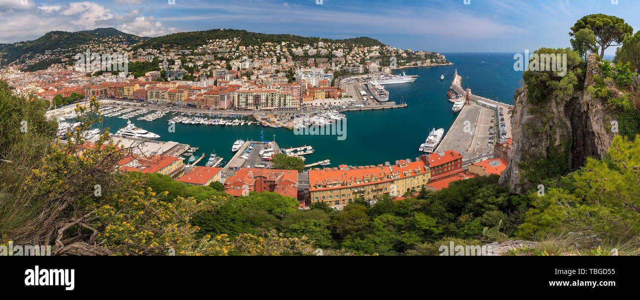 Old Port in Nice, France - Stock Image