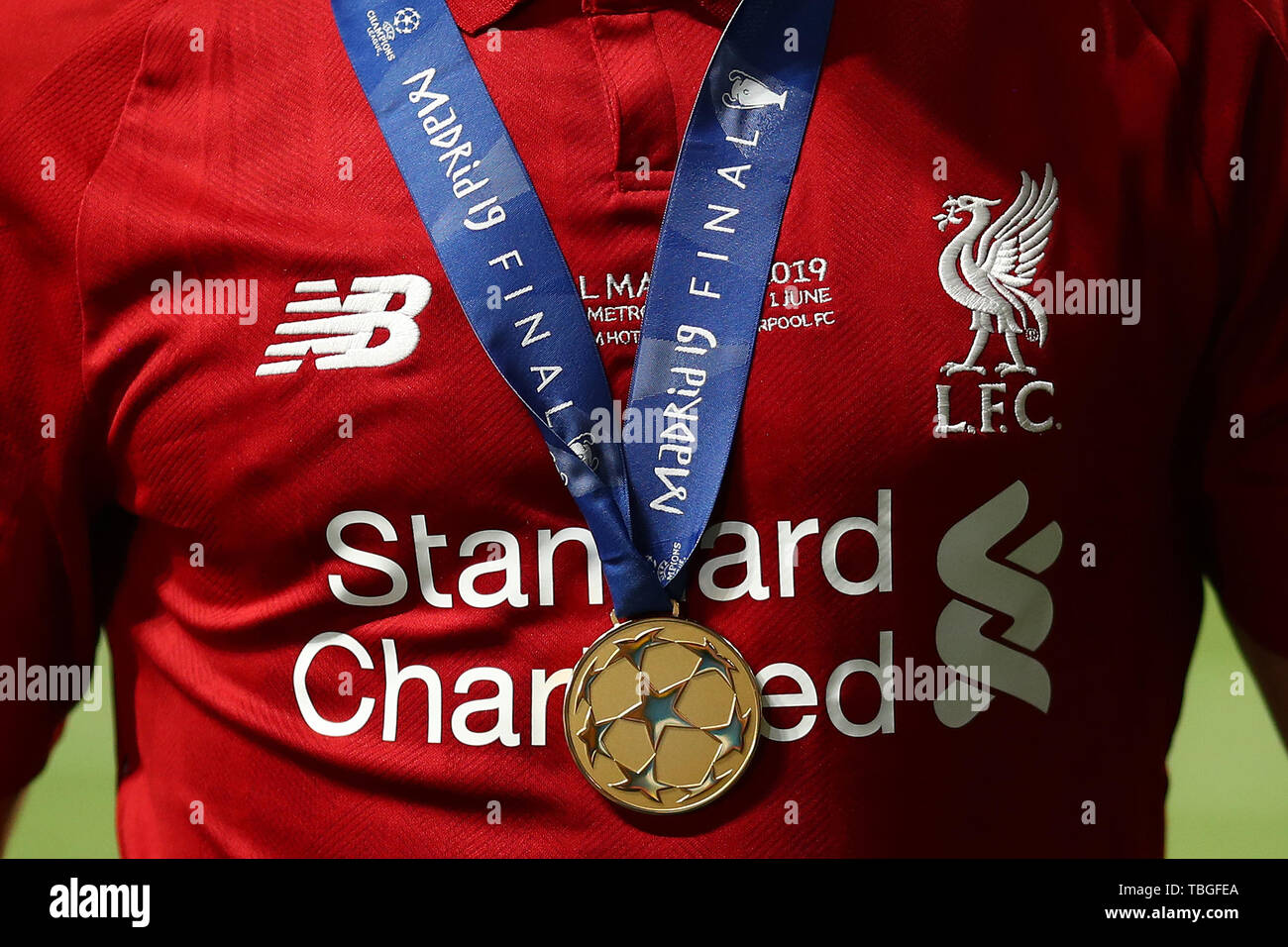 mohamed salah of liverpool winners medal and shirt detail tottenham hotspur v liverpool uefa champions league final 2019 wanda metropolitano stadium madrid 1st june 2019 stock photo alamy https www alamy com mohamed salah of liverpool winners medal and shirt detail tottenham hotspur v liverpool uefa champions league final 2019 wanda metropolitano stadium madrid 1st june 2019 image248069762 html