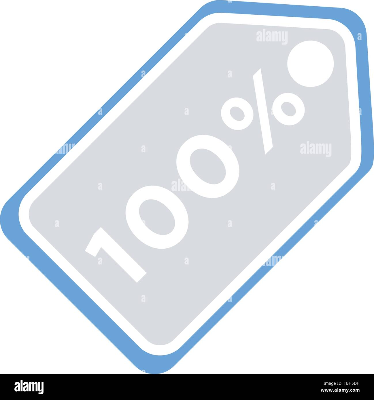 Sale tags icon - one hundred percent sign - Stock Vector