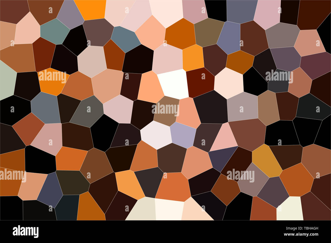 Geometric pattern of dark colors as a mosaic of large tiles of a minimalist design of brown tones, abstract colored texture shape. Stock Photo