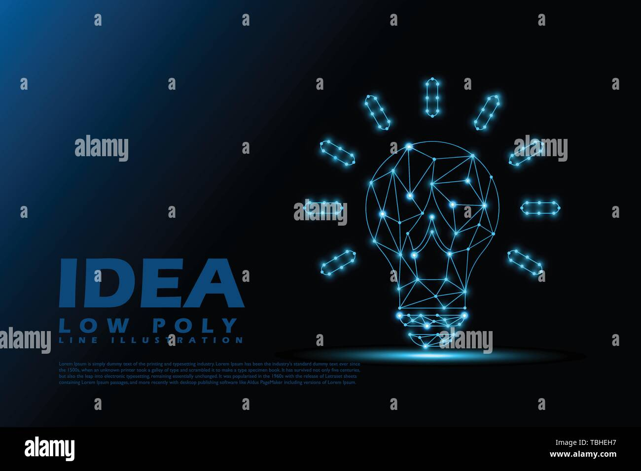 Low Poly Light Bulb Stock Photos & Low Poly Light Bulb Stock Images