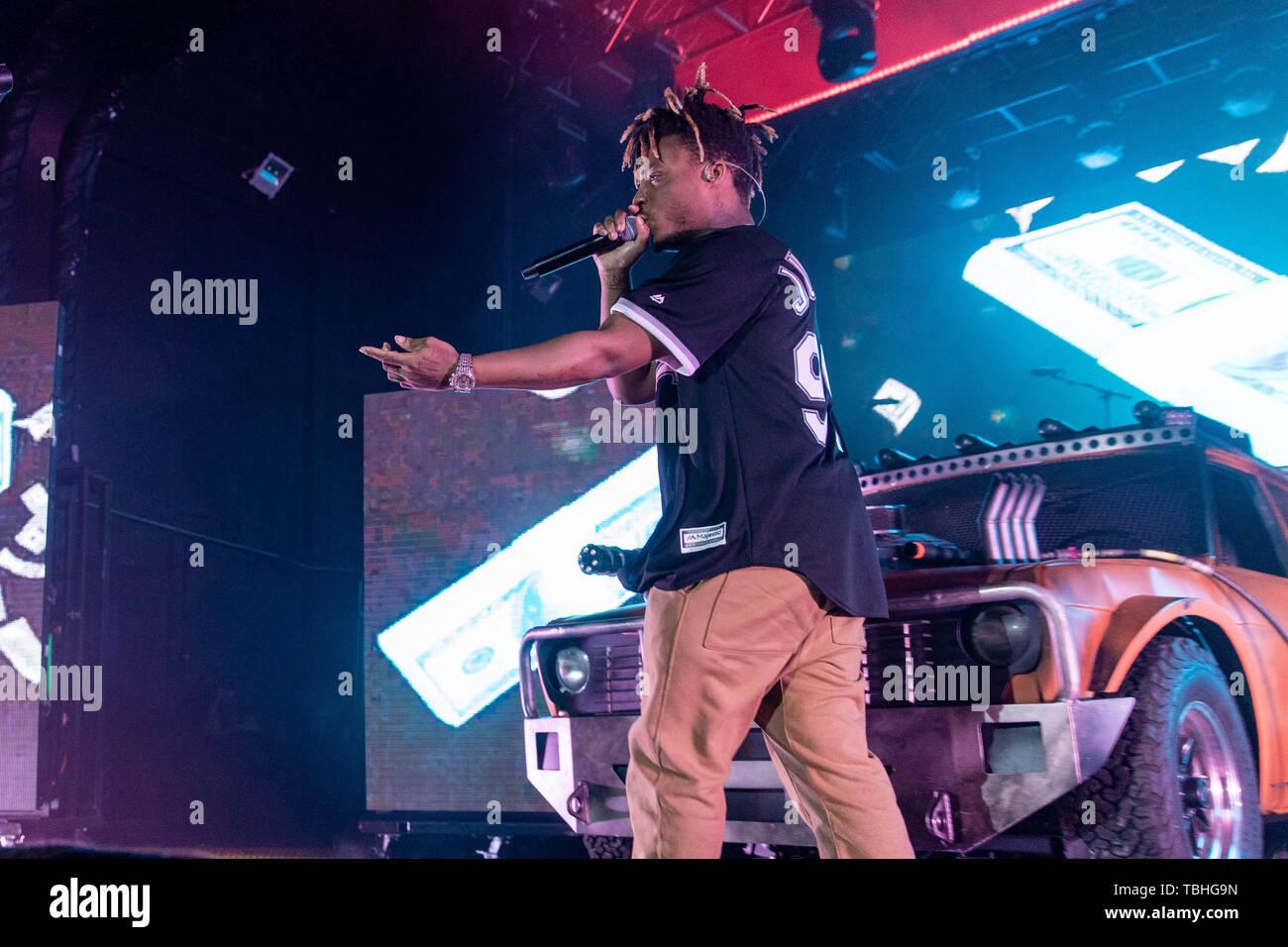 May 31, 2019 - Milwaukee, Wisconsin, U S - Rapper JUICE WRLD (JARED