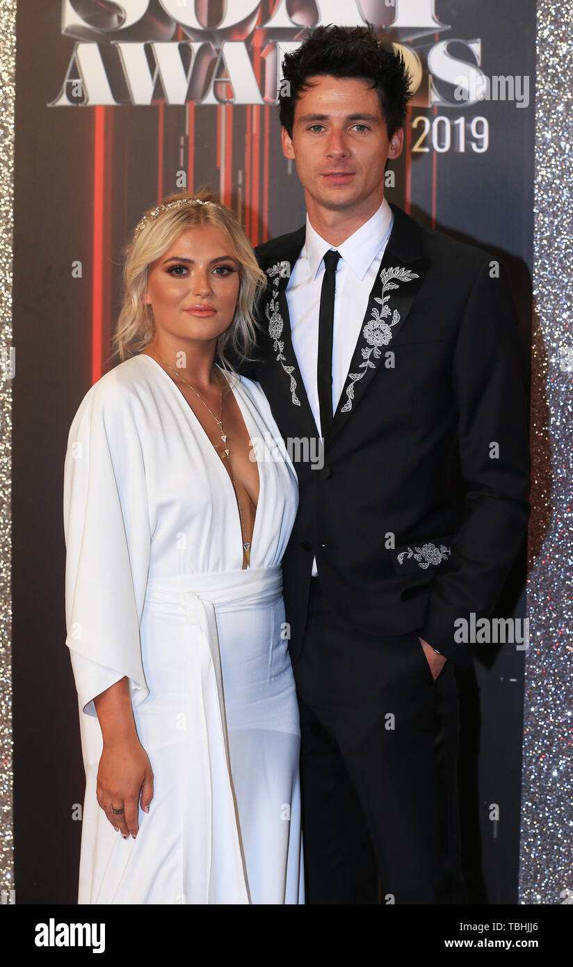 Lucy Fallon And Tom Leech Attending The British Soap Awards 2019 Held At The Lyric Theatre At The Lowry In Manchester Stock Photo Alamy