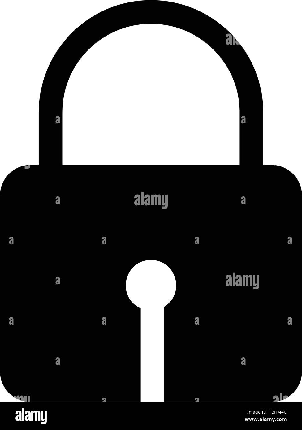 Lock icon vector - Protection sign - Stock Image