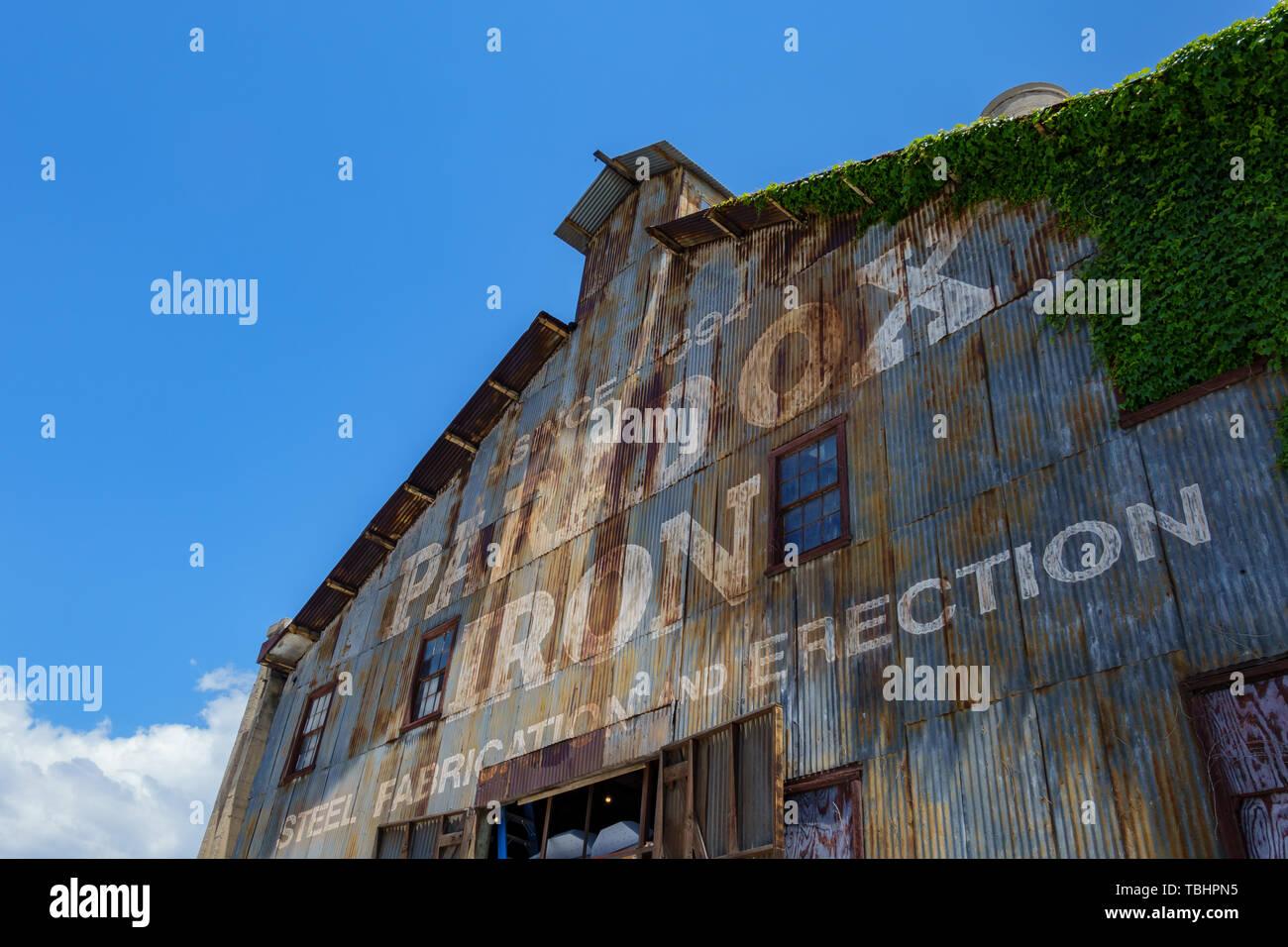 Los Angeles, MAY 11: Exterior view of the old Paradox Iron building on MAY 11, 2019 at Los Angeles, California Stock Photo