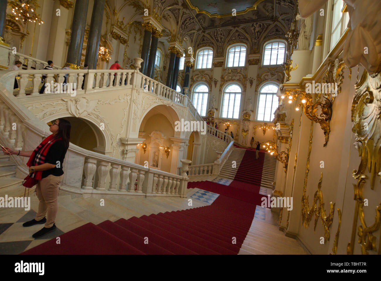 The Winter Palace of the State Hermitage Museum, St. Petersburg, Russia Stock Photo