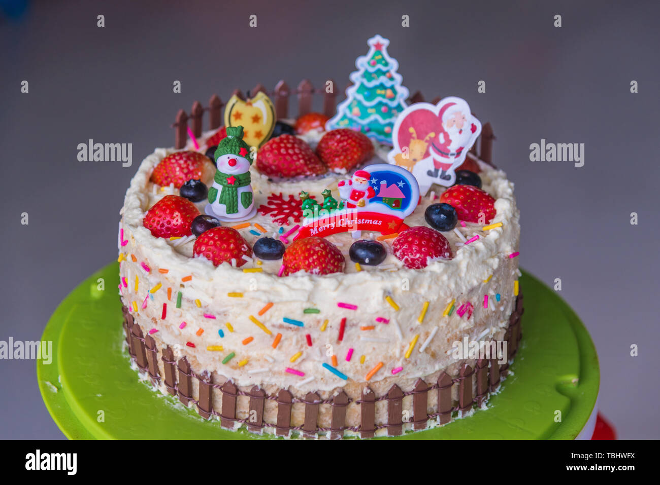 Magnificent Homemade Birthday Cake Stock Photo 248099598 Alamy Funny Birthday Cards Online Elaedamsfinfo