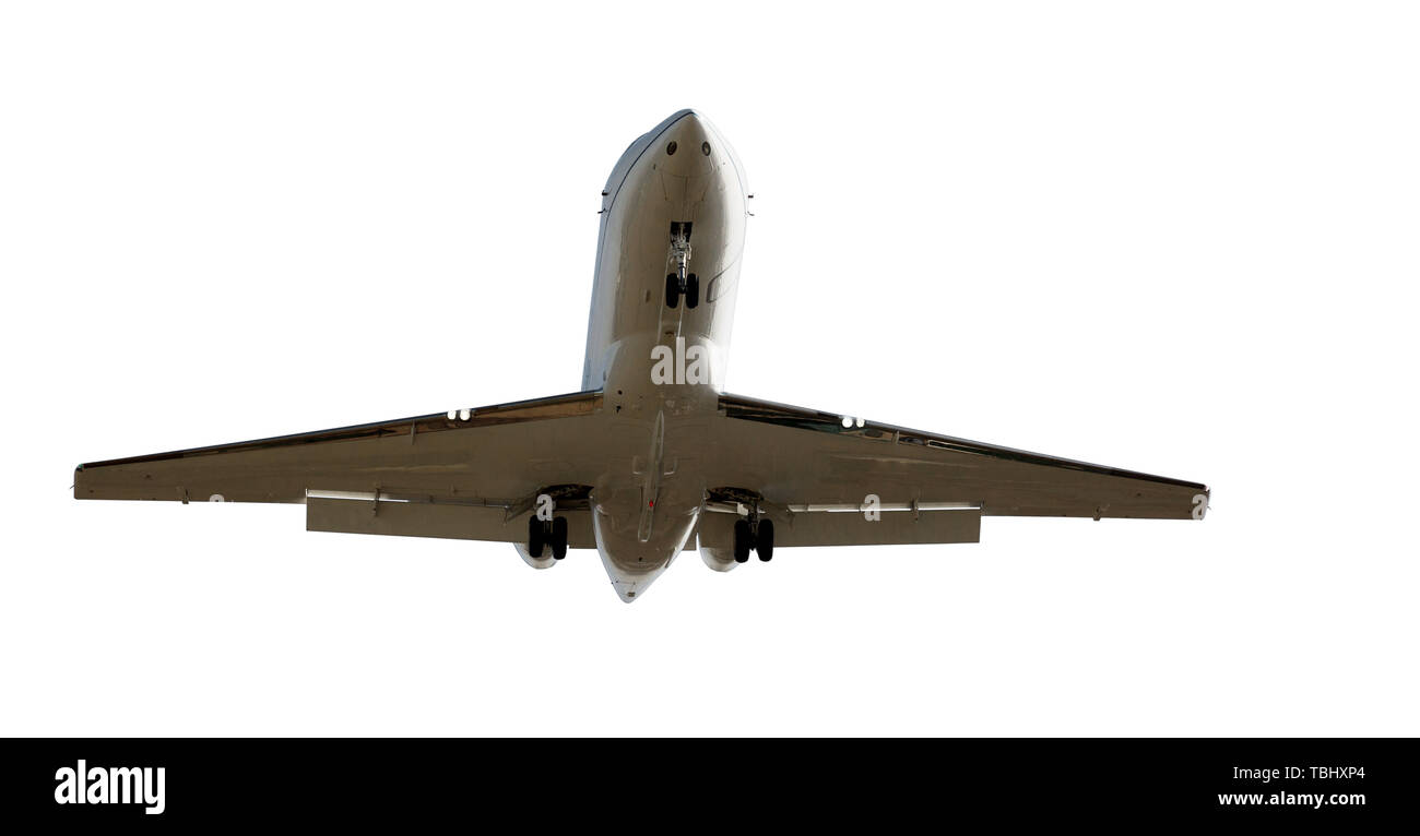 Commercial aircraft isolated on white background Stock Photo