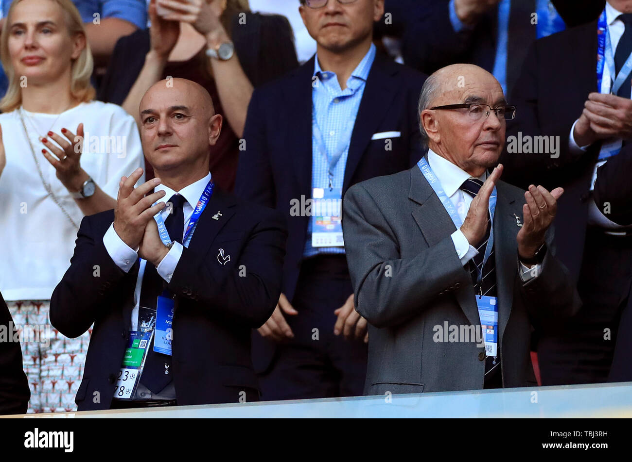 Tottenham Hotspur owner Daniel Levy and Joe Lewis in the stands