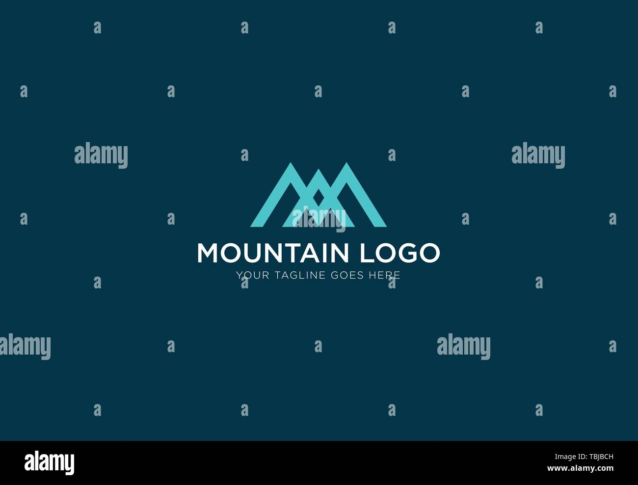 Mountain vector logo template - Stock Vector