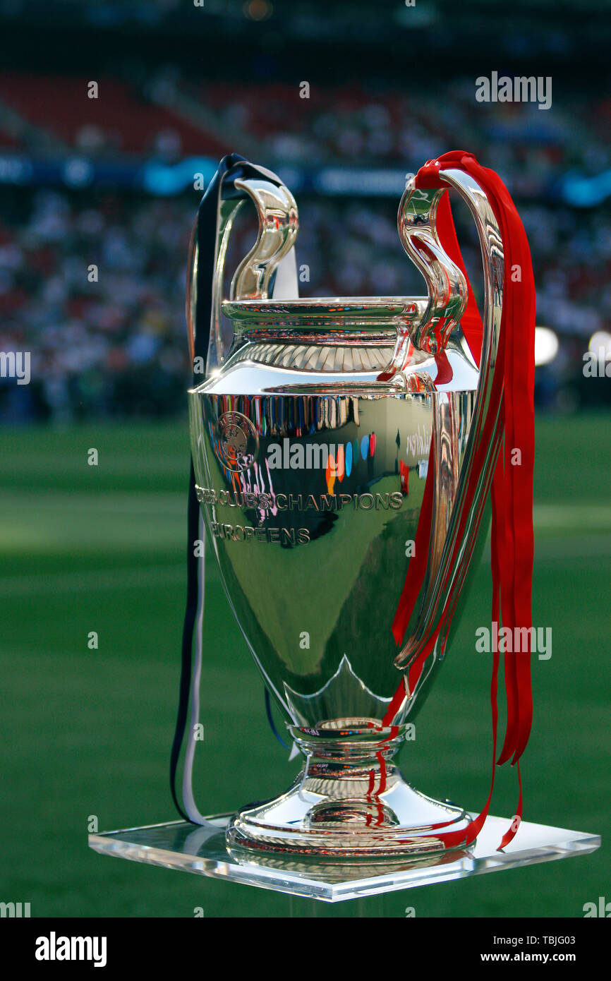 madrid spain 01st june 2019 the champions league trophy seen before the final round of the https www alamy com madrid spain 01st june 2019 the champions league trophy seen before the final round of the uefa champions league match between tottenham hotspur fc and liverpool fc at wanda metropolitano stadium in madrid final score tottenham hotspur fc 0 2 liverpool fc credit sopa images limitedalamy live news image248114051 html