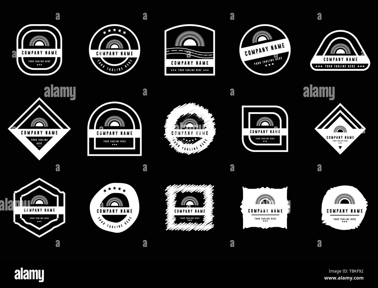 Badge logo set - badges and labels logo - vintage Insignias and logotypes set - Vector White - Stock Vector