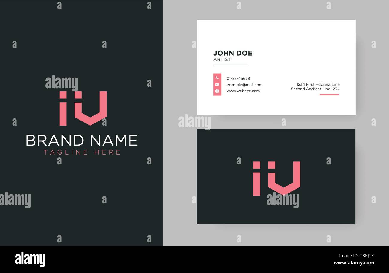 Premium Letter Iv Logo With An Elegant Corporate Identity