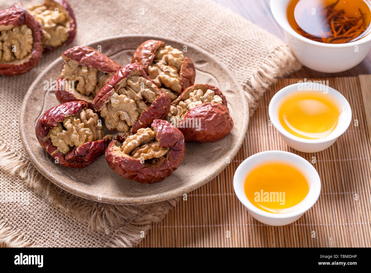 Jujube Sandwiched Walnuts Special Cuisine Stock Photo 248156098