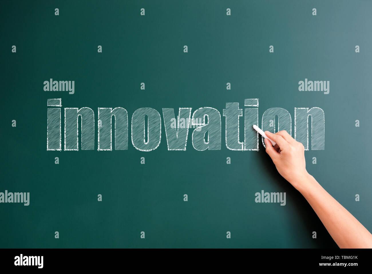 Innovation written on background - Stock Image