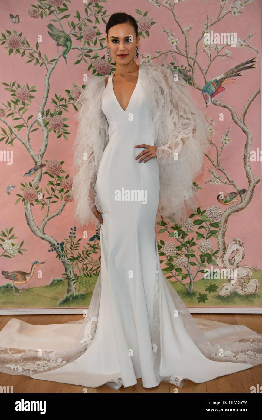 c767cd78beb3 New York Bridal Fashion Week Spring Summer 2020 - Ines Di Santo -  Presentation Featuring: Kalyn Hemphill Where: New York, New York, United  States When: 15 ...
