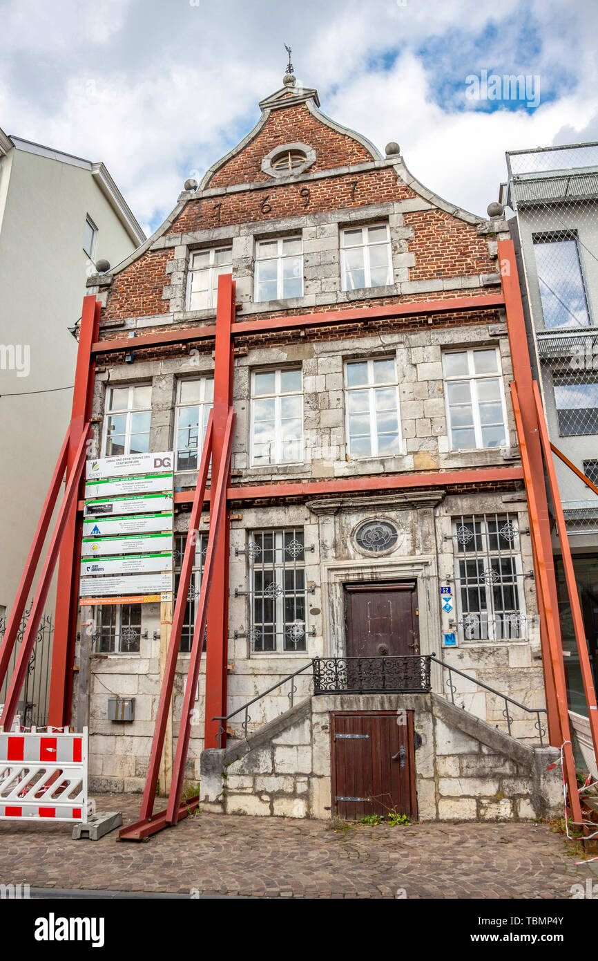 EUPEN, BELGIUM - OCTOBER 09, 2016: Eupen Town Museum, a former merchant's house, closed for renovation - Stock Image