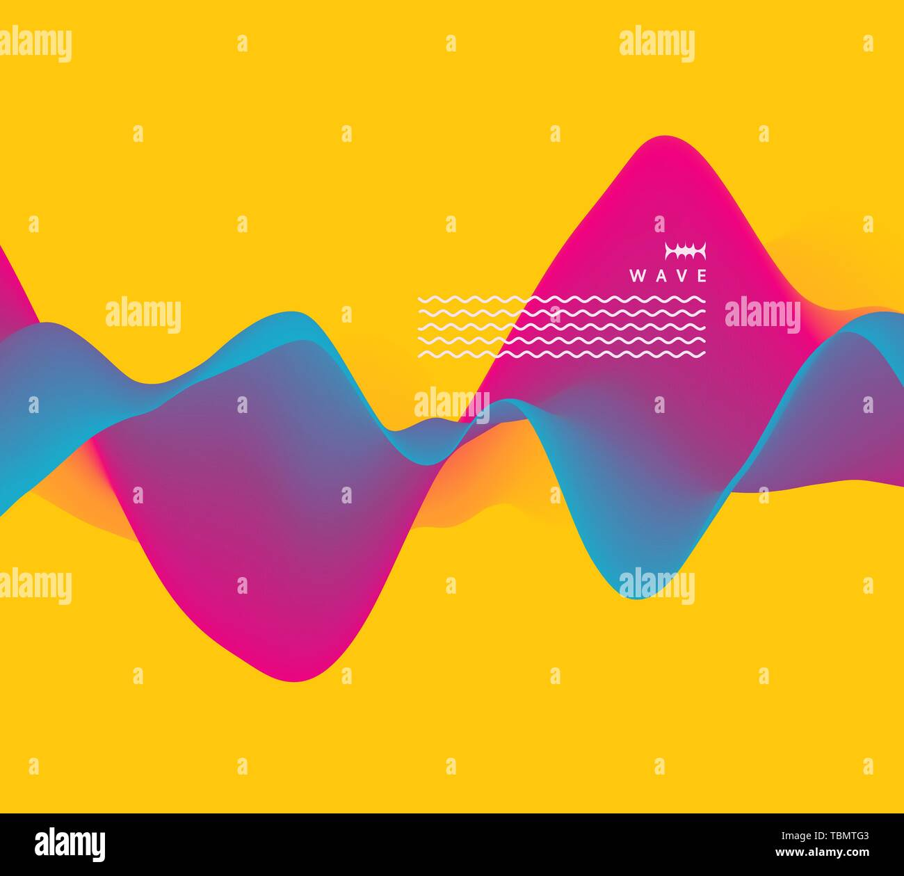 Sound waves  3D wavy background with dynamic effect