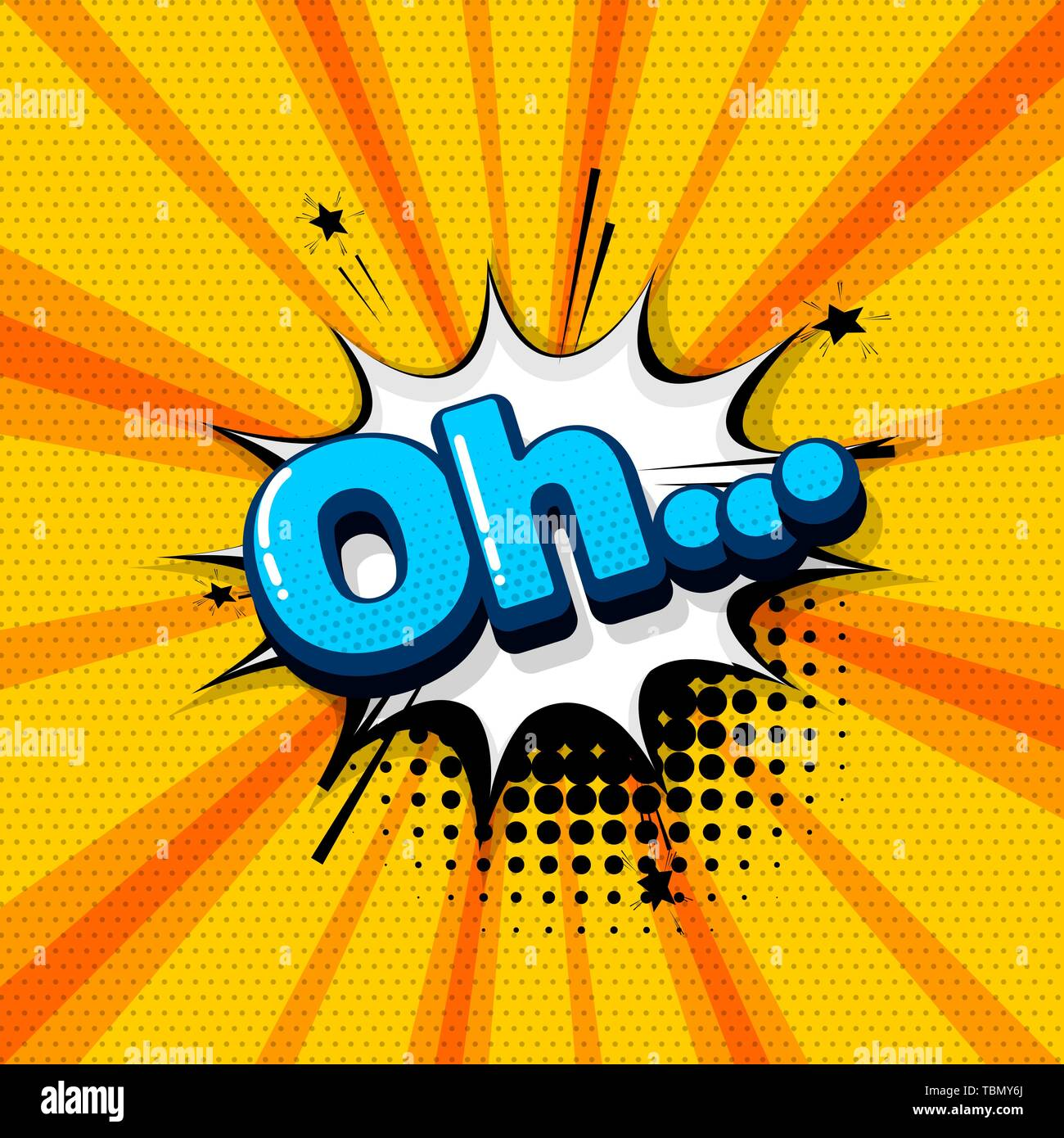 Oh comic text sound effects pop art style  Vector speech