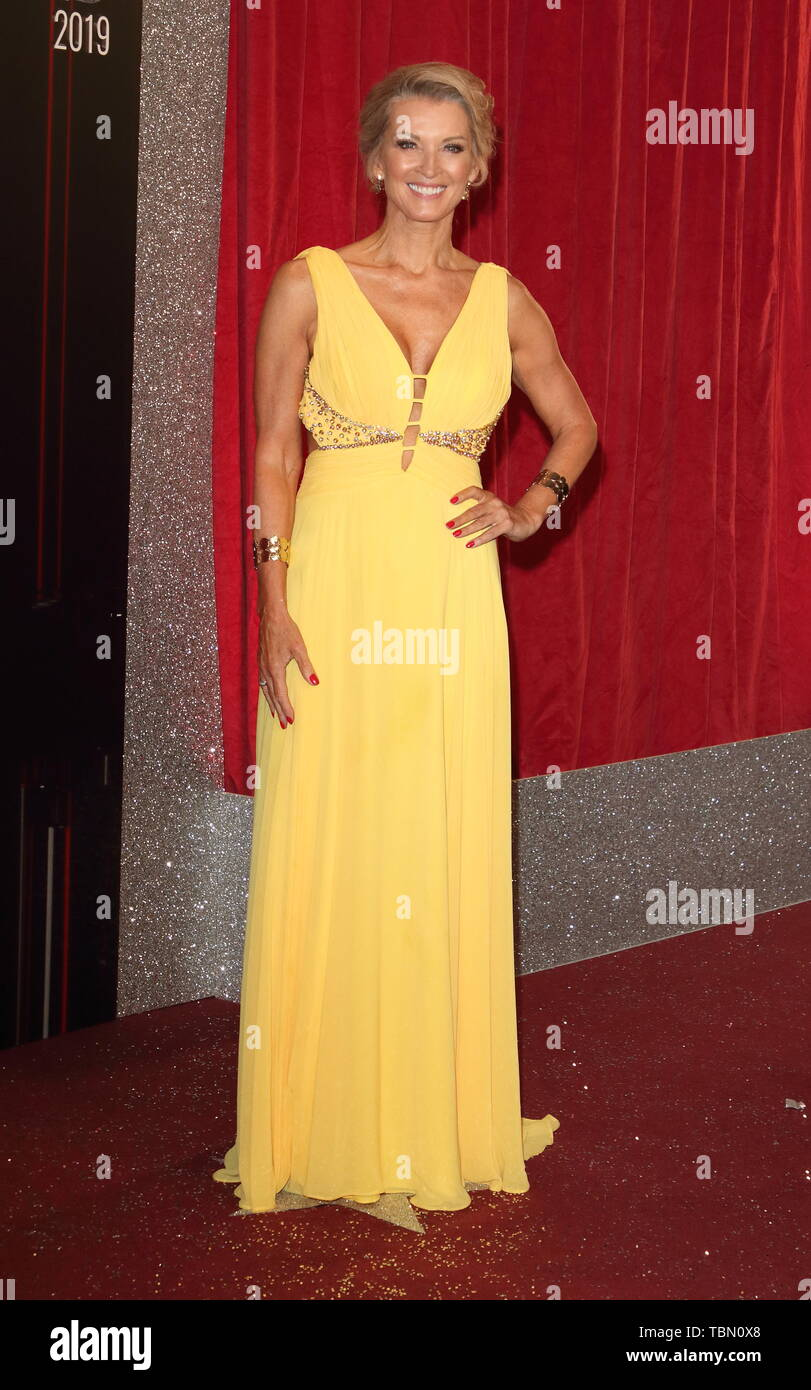 Gillian Taylforth arrives on the red carpet during The British Soap Awards 2019 at The Lowry, Media City, Salford in Manchester. Stock Photo