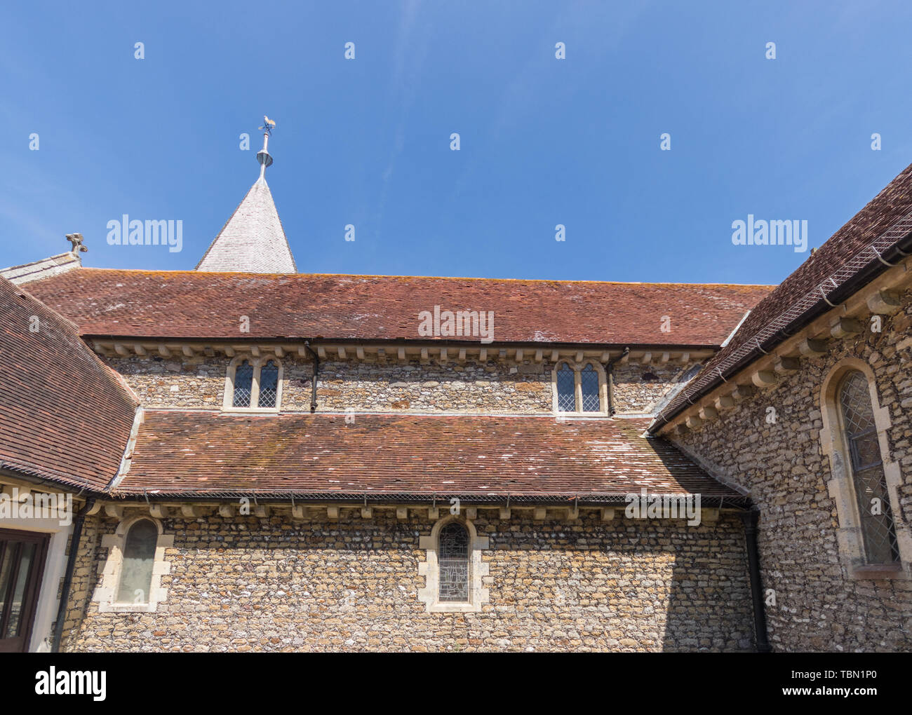 St Thomas a Becket church, Pagham, West Sussex, UK - Stock Image