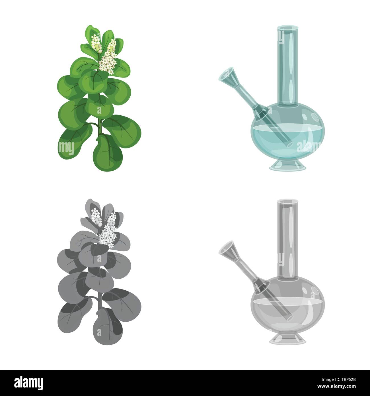 Vector illustration of refuse and stop symbol. Collection of refuse and habit stock vector illustration. - Stock Vector
