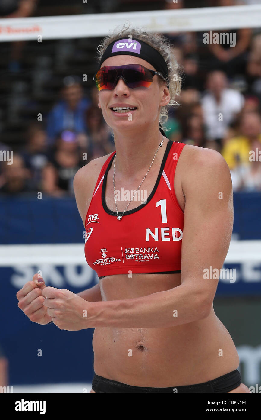 Ostrava, Czech Republic. 01st June, 2019. Sanne Keizer (Netherlands) is seen during the four-star J&T Banka Ostrava Beach Open 2019, part of the FIVB Beach Volleyball World Tour, in Ostrava, Czech Republic, on July 1, 2019. Credit: Petr Sznapka/CTK Photo/Alamy Live News Stock Photo