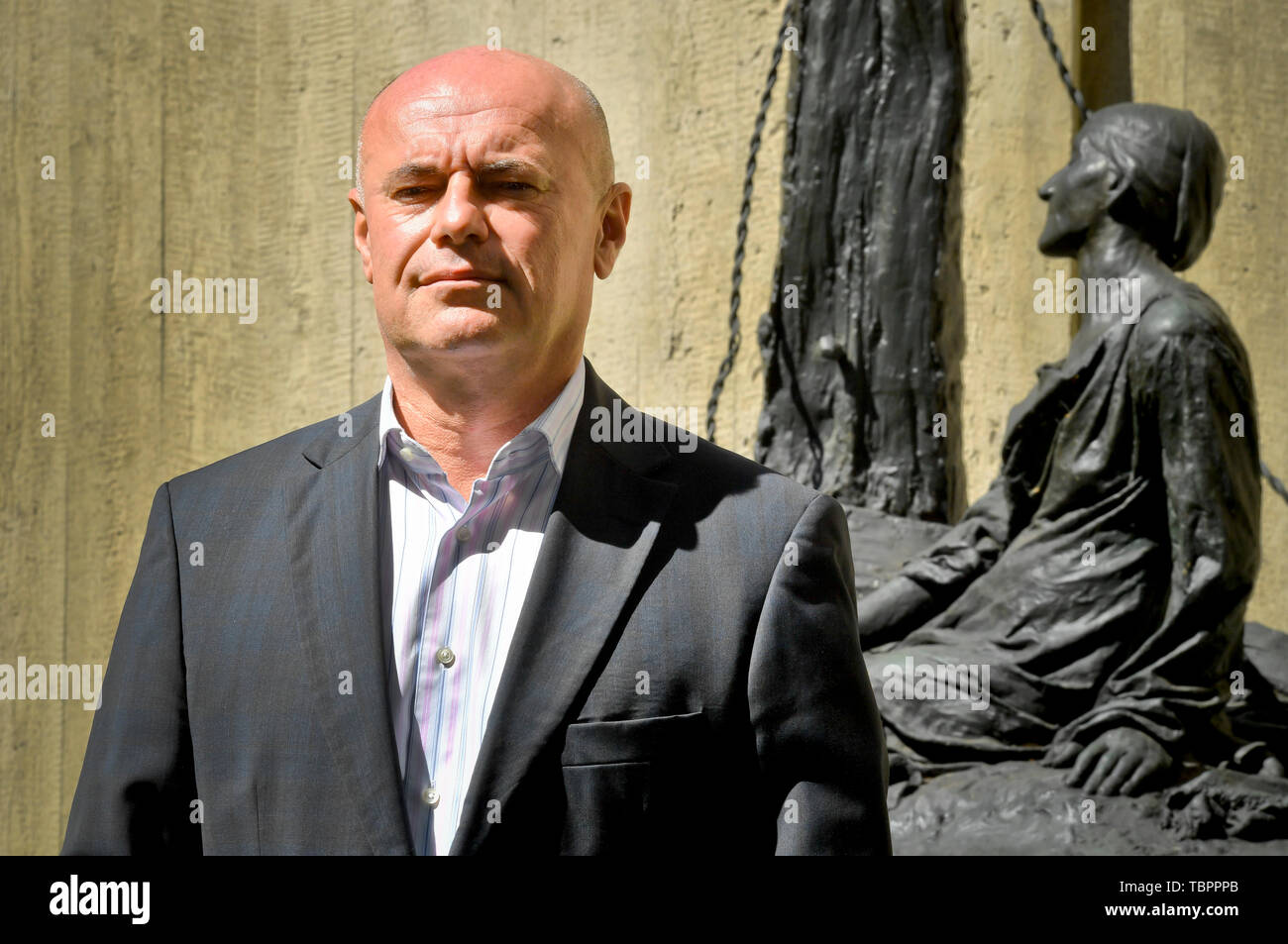 Prague, Czech Republic. 03rd June, 2019. Ivan Moravek, acting head of the National Gallery Prague (NGP), poses for the photographer within a press conference on the current situation in the gallery, on June 3, 2019, in Prague, Czech Republic. Credit: Vit Simanek/CTK Photo/Alamy Live News Stock Photo