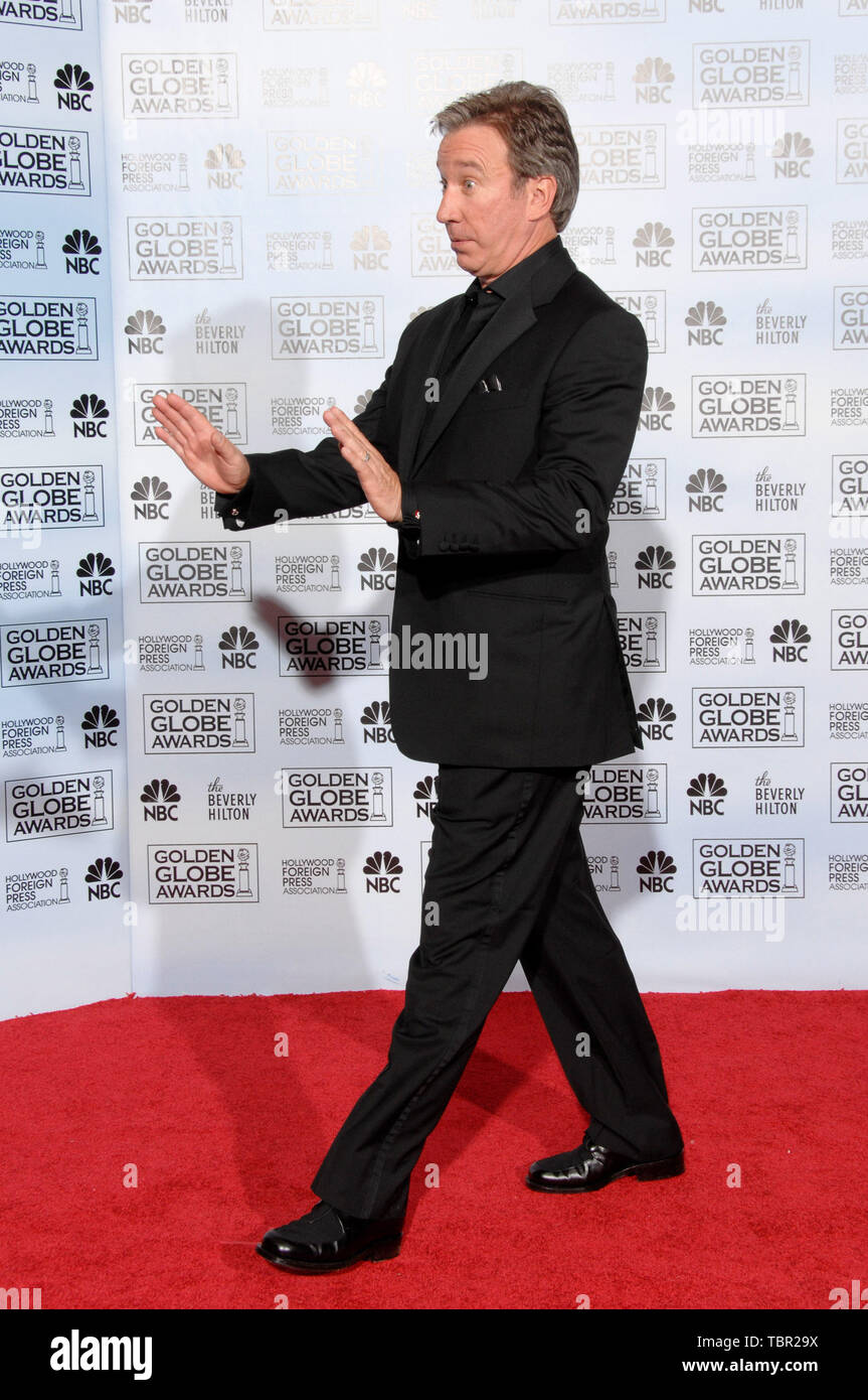 LOS ANGELES, CA. January 15, 2007: TIM ALLEN at the 64th Annual Golden Globe Awards at the Beverly Hilton Hotel. © 2007 Paul Smith / Featureflash - Stock Image