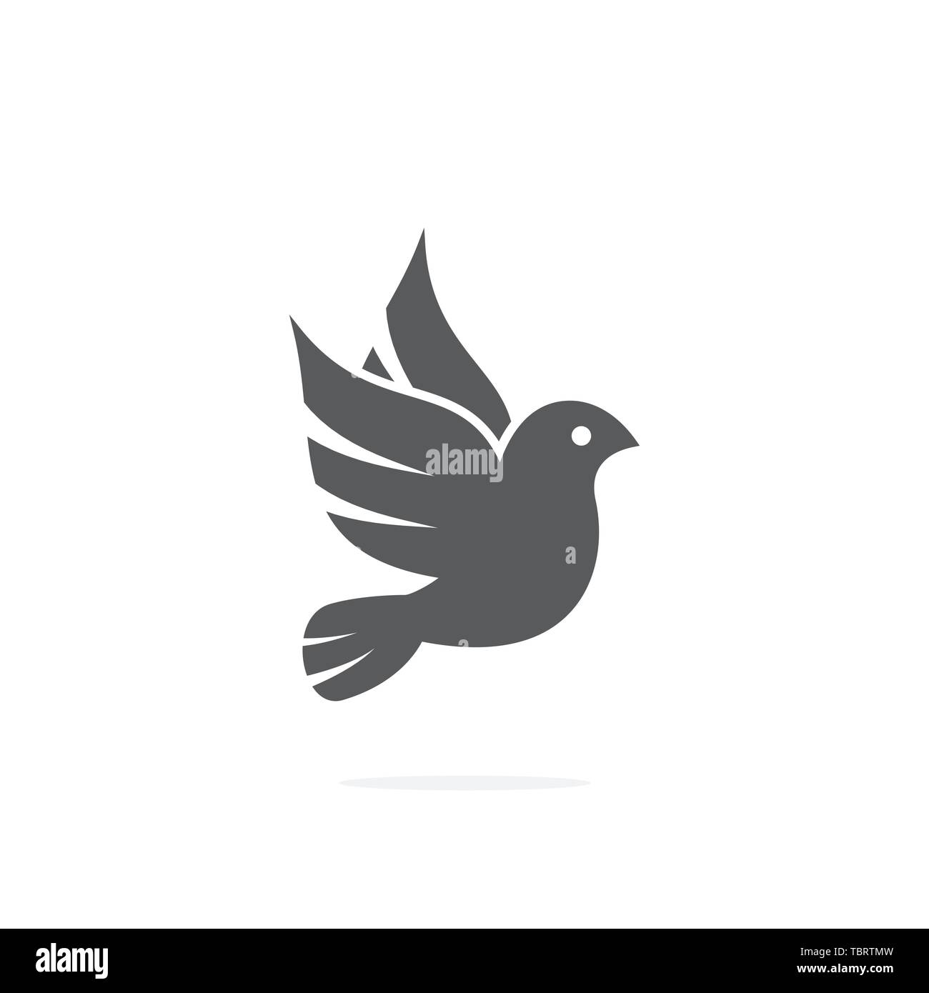 Dove icon on white background Stock Vector
