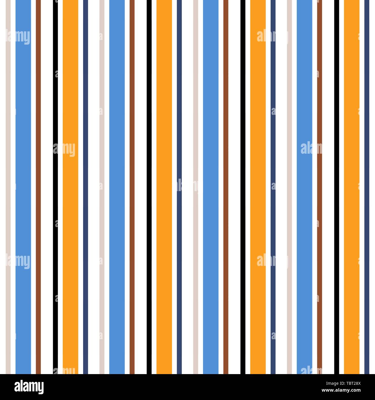 19799dee Stripe seamless pattern with Orange, white and black colors vertical  parallel stripes. Vector abstract background.