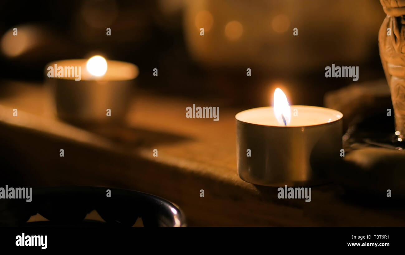 Tea light candles - Stock Image