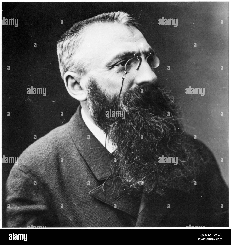 Auguste Rodin, Portrait of Rodin, portrait photograph, 1893 - Stock Image