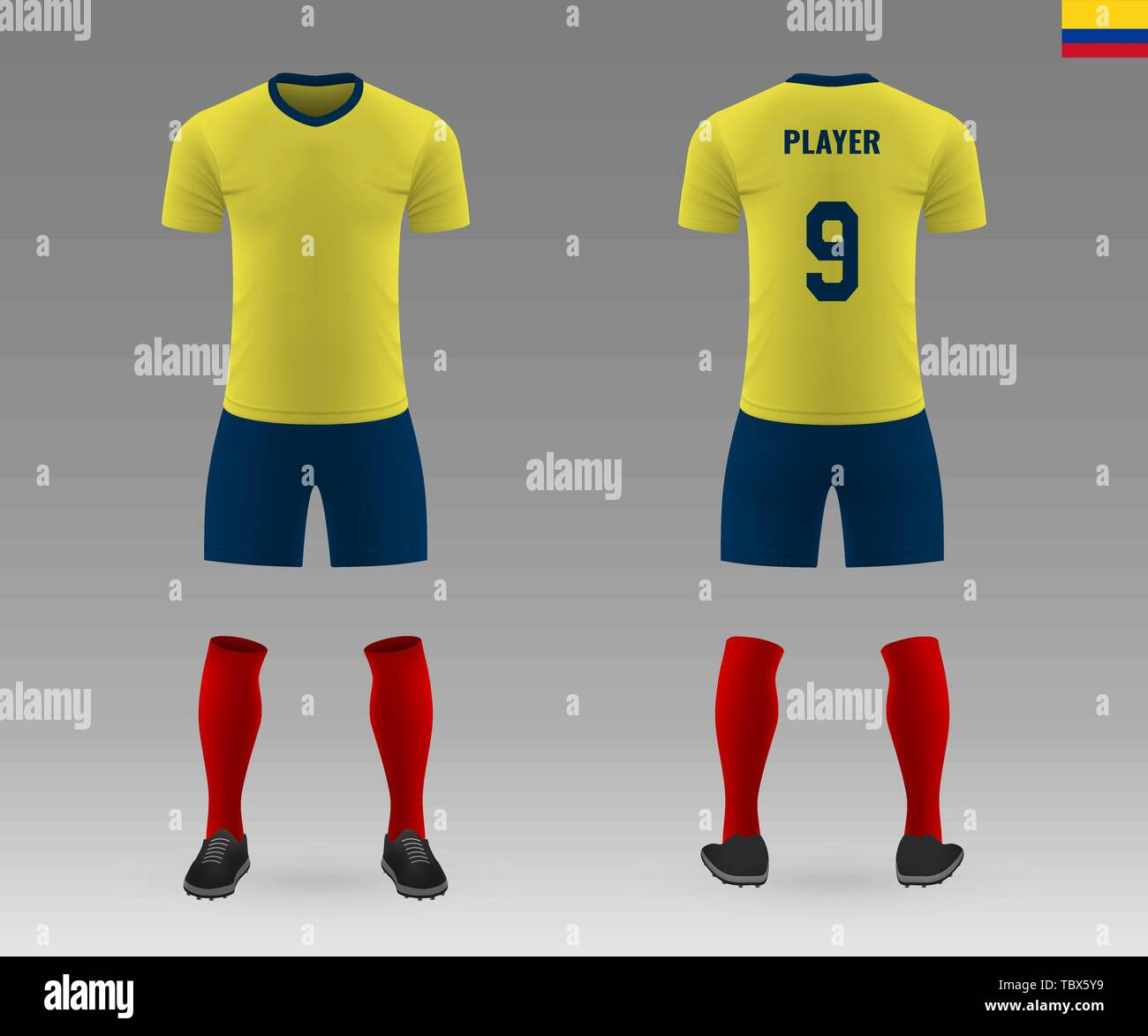 new style 5a6af 81cfd football kit of national team Colombia, shirt template for ...