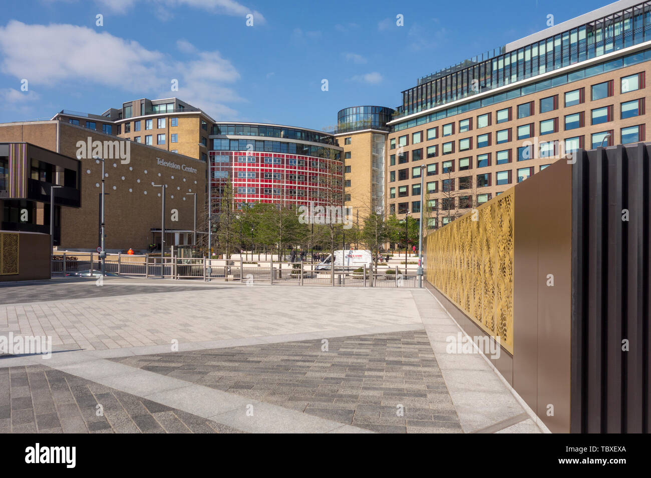 New London development apartments & homes at former BBC Television Centre, White City, London, UK - Stock Image