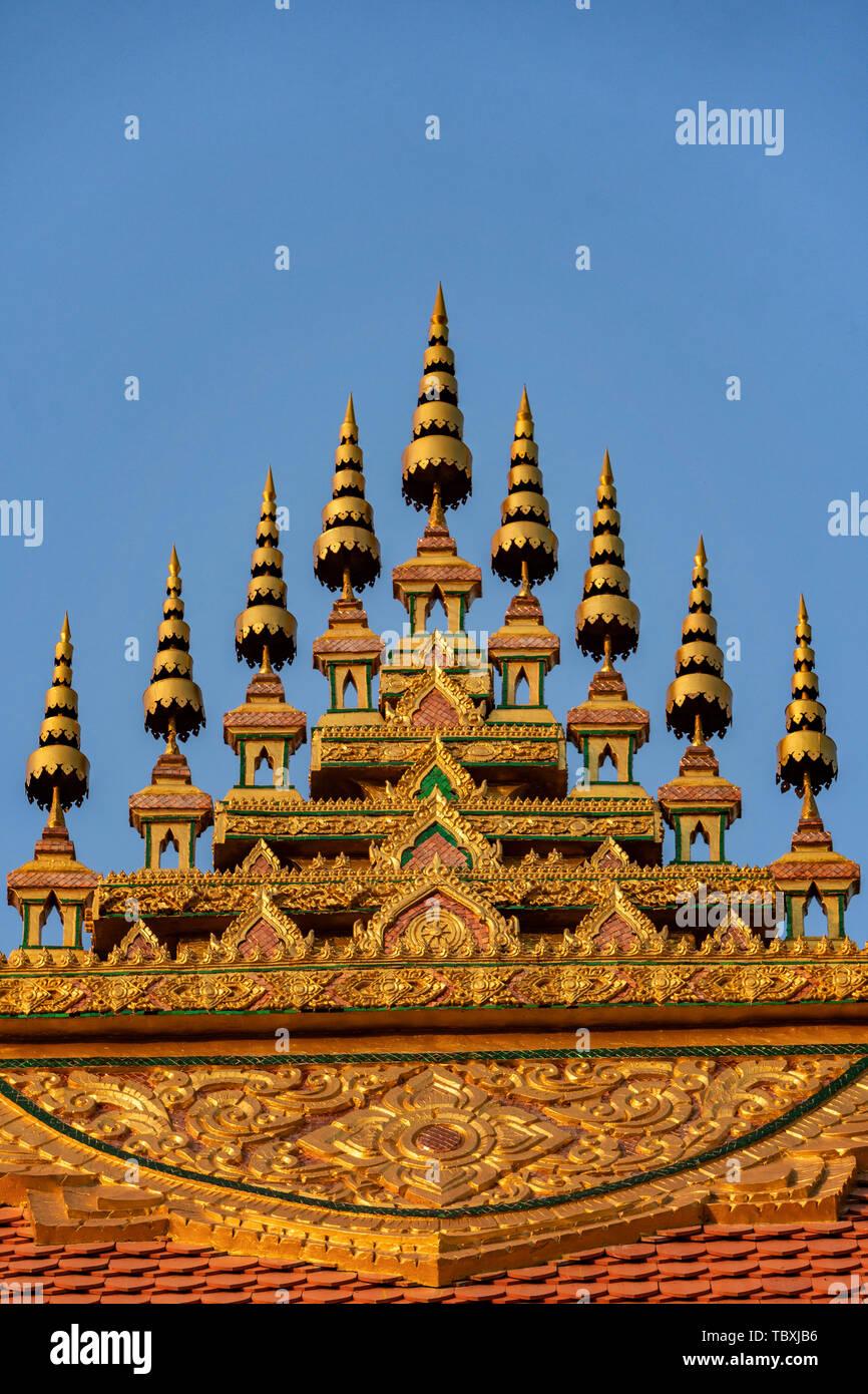 Wat That Luang at Luang Prabang, Laos, Southeast Asia Stock Photo