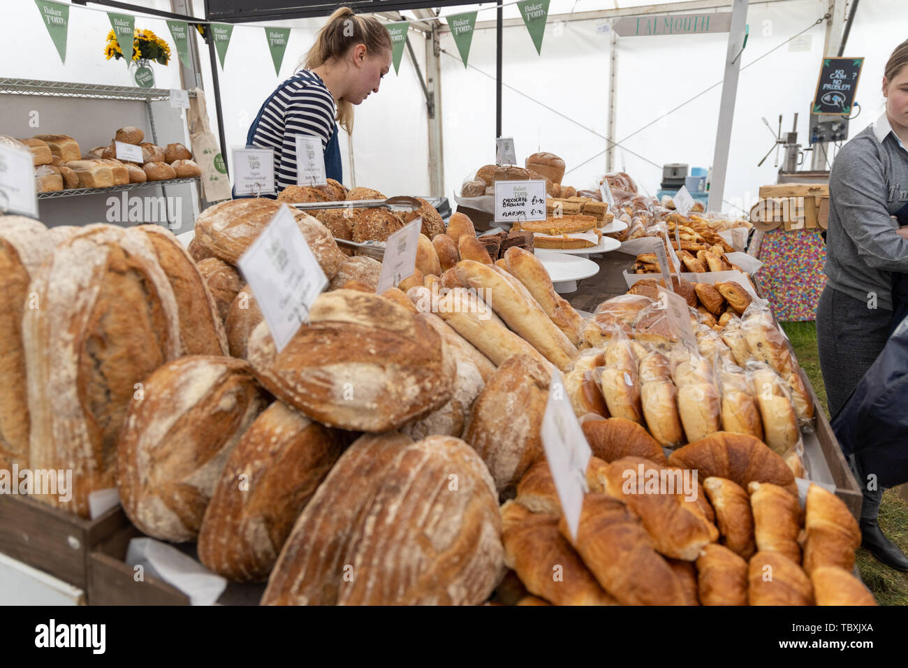 Bakery Stall at the Devon County Show - Stock Image