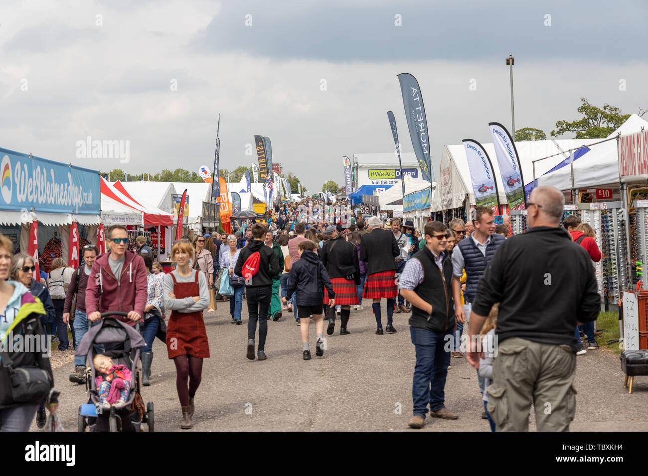 Crowds at the Devon County Show - Stock Image